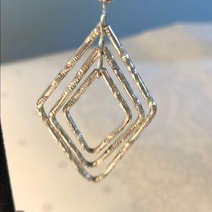 Jewelry - Geometric Silver Tone Earrings